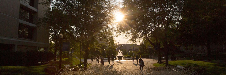Students on Creighton University Campus