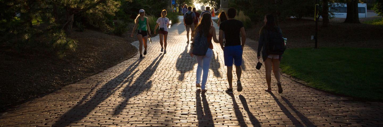 Students walking on Creighton University Campus