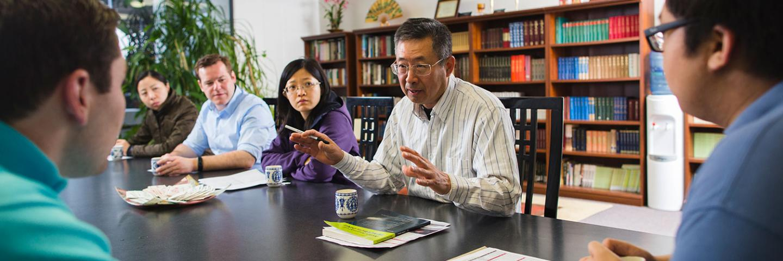 Prof. Jiang teaches Asian studies class
